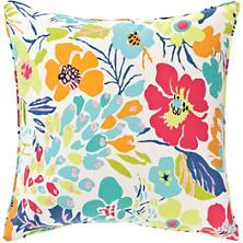 Hot House Floral Summer Decorative Pillow