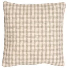 Houndstooth Platinum/Ivory Indoor/Outdoor Pillow