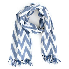 Ikat French Blue Scarf