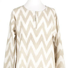 Ikat Platinum Knee-Length Kaftan