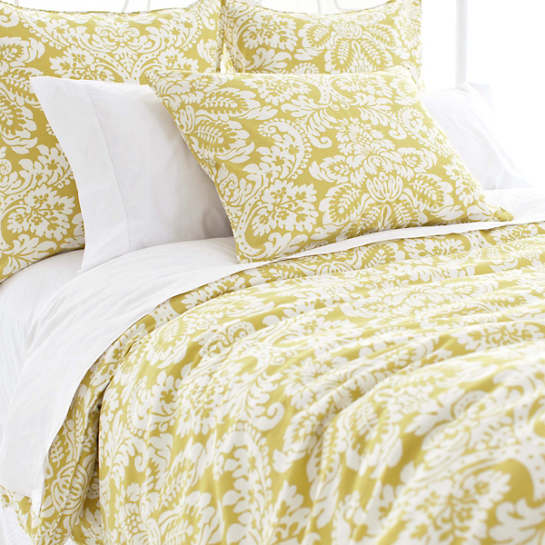 Imperial Damask Citrus Duvet Cover