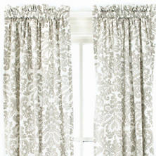 Imperial Damask Platinum Window Panel