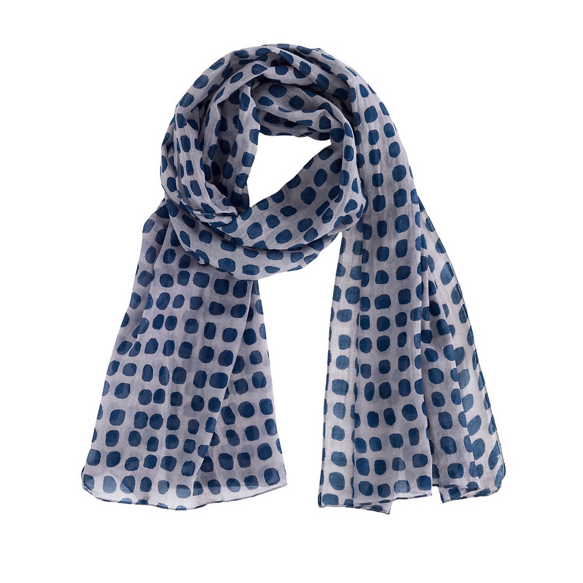 Indigo Polka Dot Scarf Furniture
