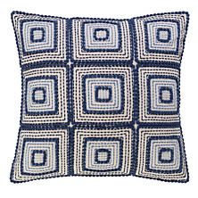 Indigrid Embroidered Decorative Pillow