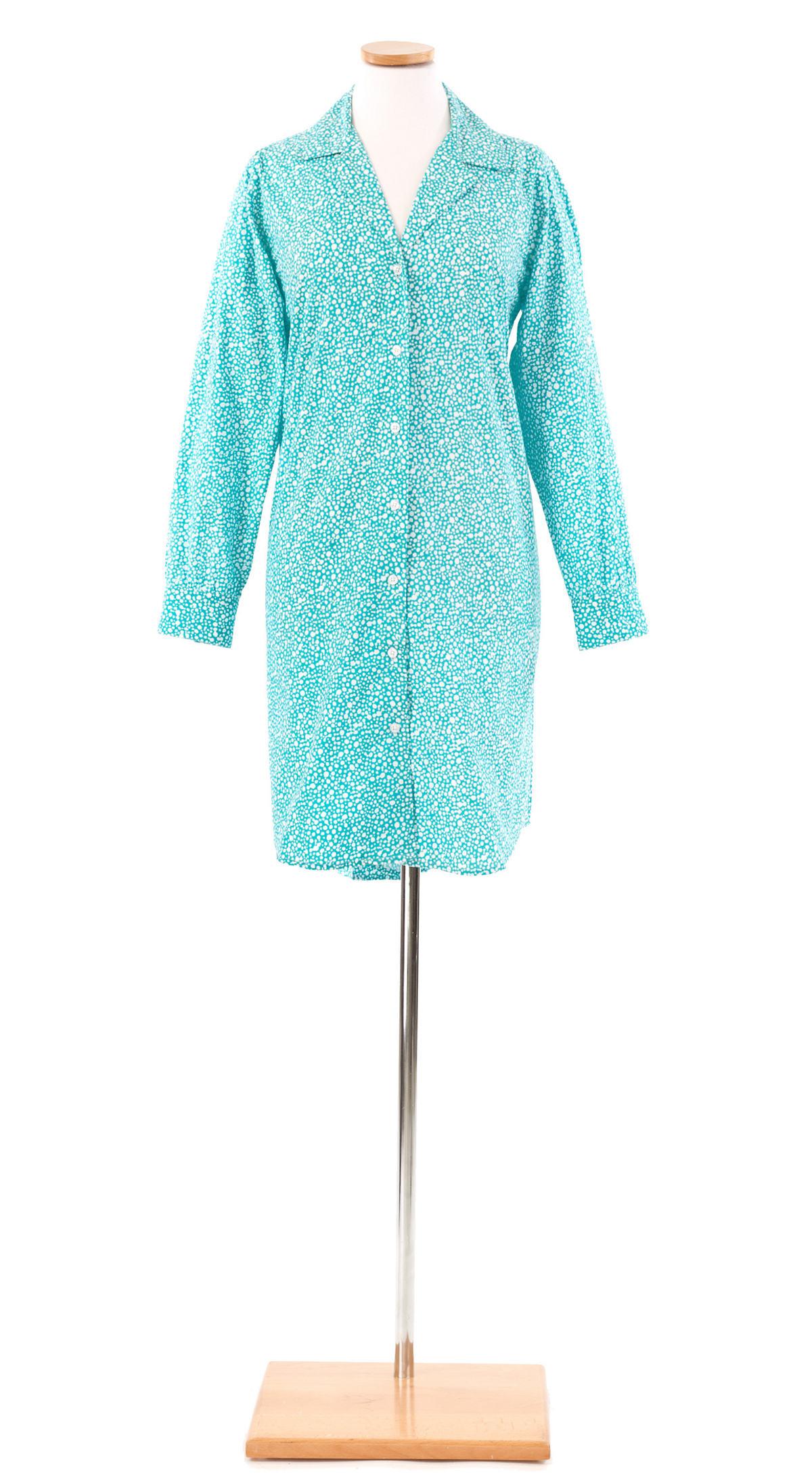 Ink Dots Aqua Night Shirt