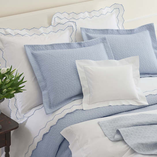 Isabella White/Delphinium Pillowsham