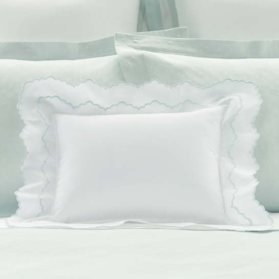 Isabella White/Pearl Blue Decorative Pillow