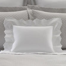 Isabella White/White Decorative Pillow