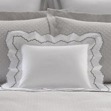 Isabella White/Zinc Decorative Pillow