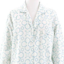 Jacks Chalk Blue Flannel Shirt Tail Pajama