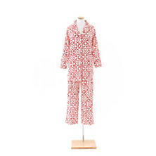 Jacks Crimson Flannel Shirt Tail Pajama