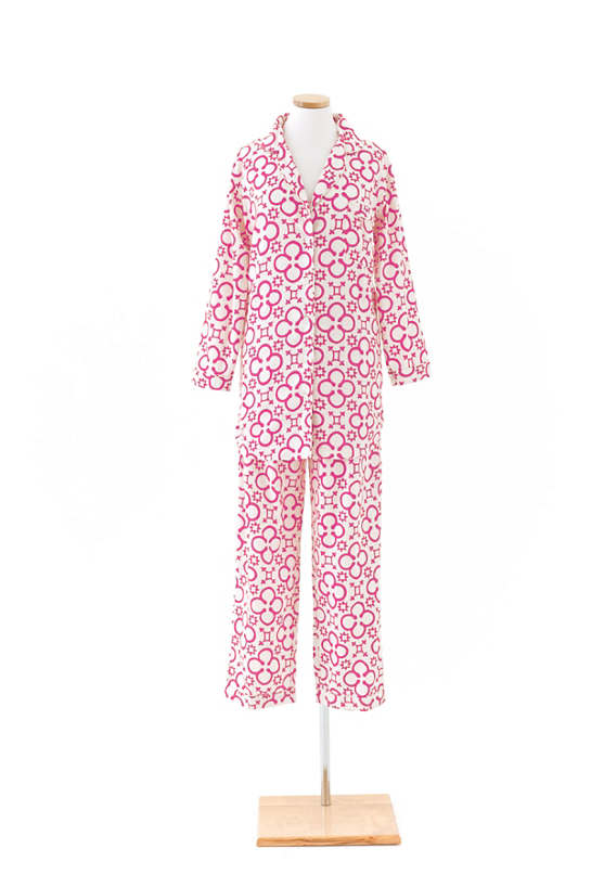 Jacks Fuchsia Flannel Shirt Tail Pajama