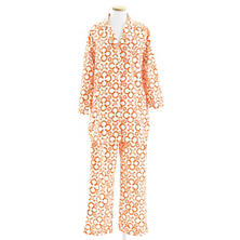 Jacks Tangerine Flannel Shirt Tail Pajama