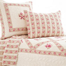 Jewel Pink Quilted Sham