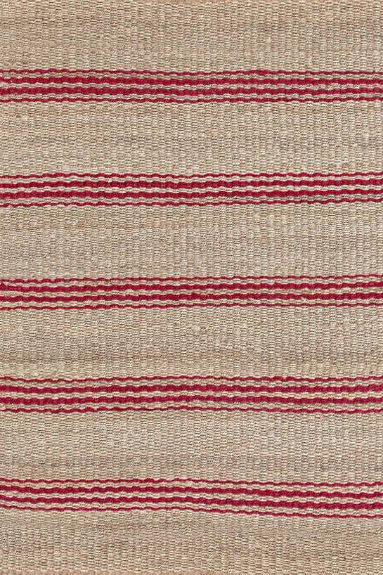 Jute Ticking Crimson Woven Rug