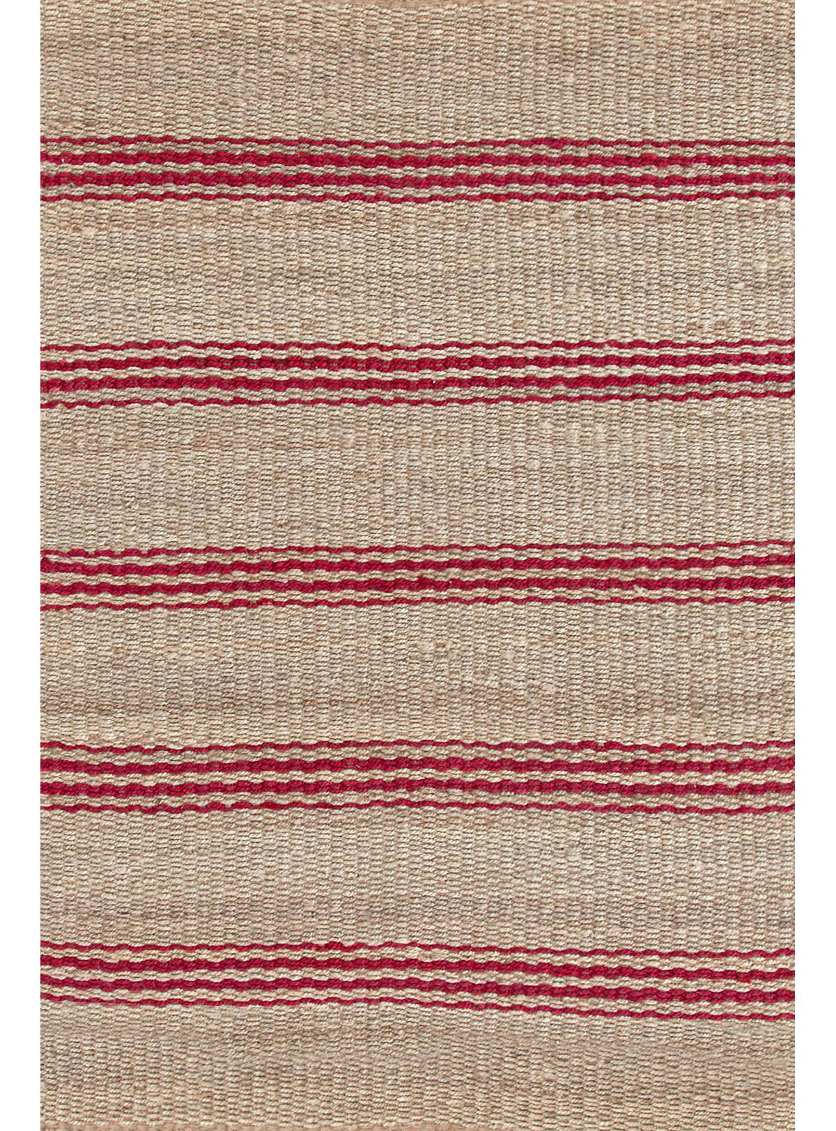 Jute Ticking Crimson Woven Rug