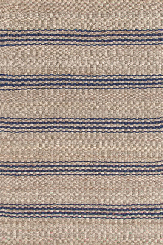 Jute Ticking Indigo Woven Rug Dash Amp Albert