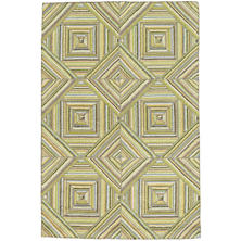 Kaledo Green Cotton Micro Hooked Rug