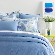 Kelly French Blue Matelassé Coverlet