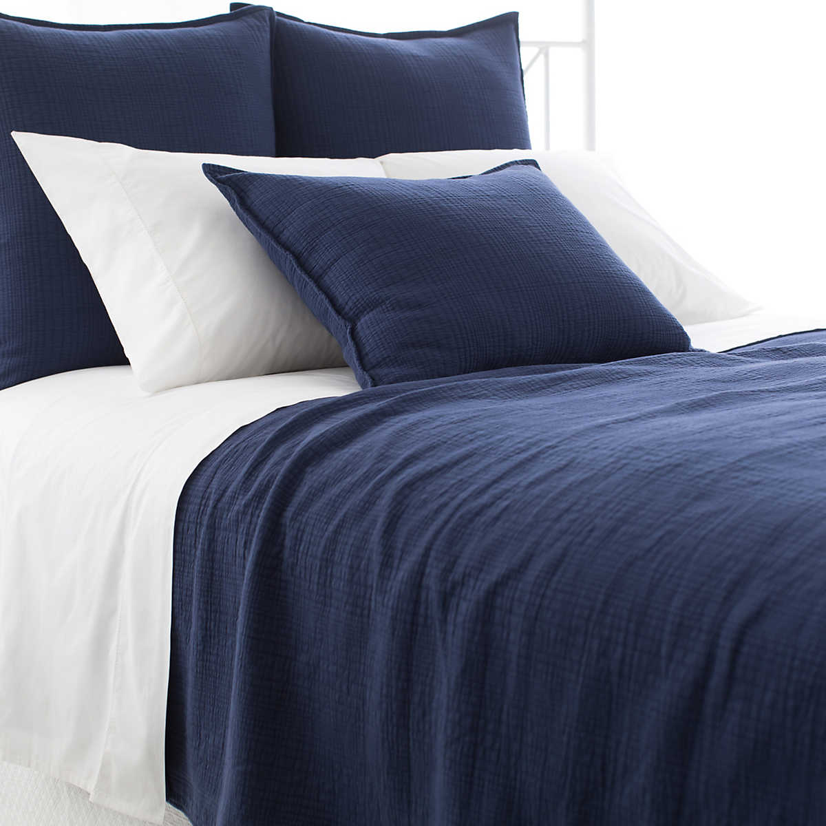 Kelly Indigo Matelass 233 Coverlet Pine Cone Hill