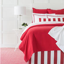 Kelly Red Matelassé Coverlet