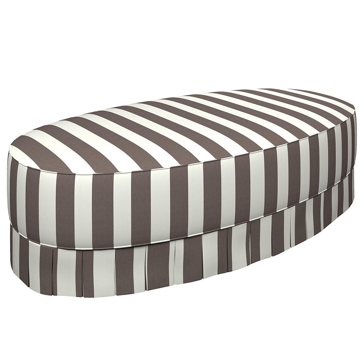 Alex Shale Kendall Box Pleat Ottoman Furniture