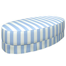 Alex Sky Kendall Box Pleat Ottoman