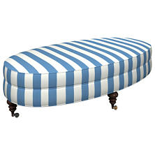 Alex French Blue Kendall Ottoman