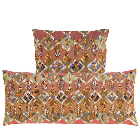 Kenya Embroidered Decorative Pillow