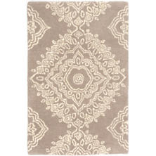 Lace Medallion Wool Tufted Rug