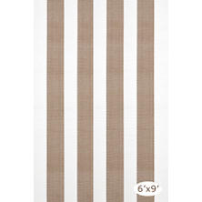 Lakehouse Khaki/White Indoor/Outdoor Rug