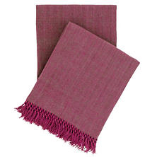Laundered Cotton Boysenberry Throw