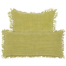 Laundered Linen Citrus Decorative Pillow