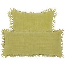 Laundered Linen Citrus Decorative Pillow