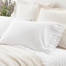 Laundered Ruffle White Pillowcases