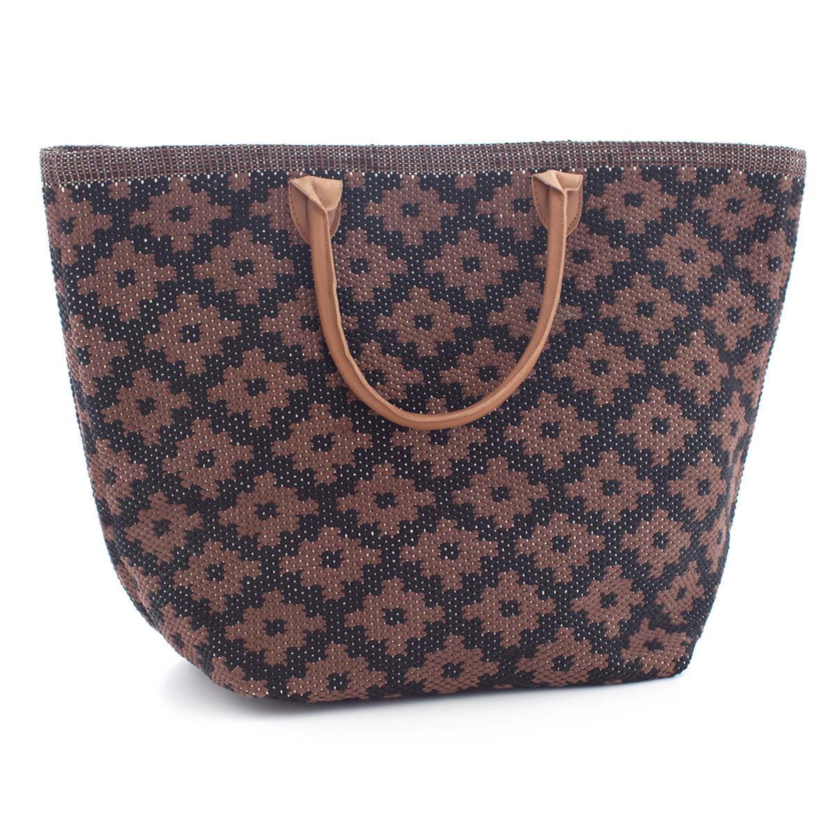 Fresh American Le Tote Black/Brown Tote Bag Grand