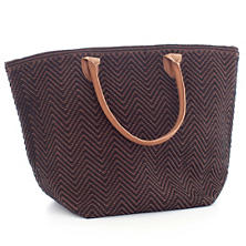 Le Tote Black/Brown Tote Bag Moyen