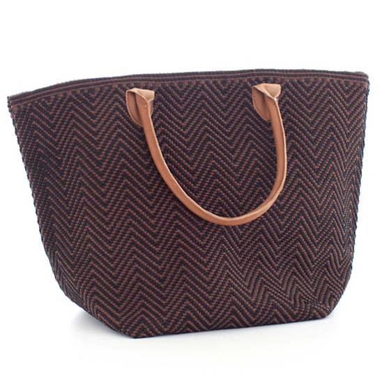 Fresh American Le Tote Black/Brown Tote Bag Moyen