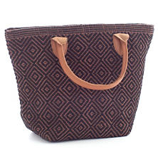 Le Tote Black/Brown Tote Bag Petit