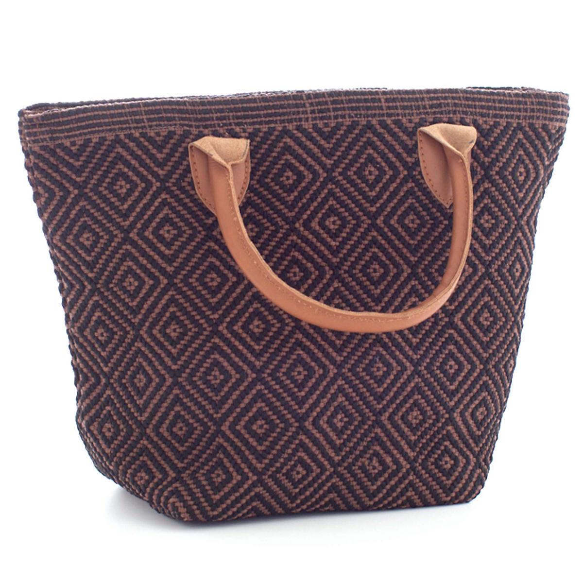 Le Tote Black/Brown Tote Bag Petit