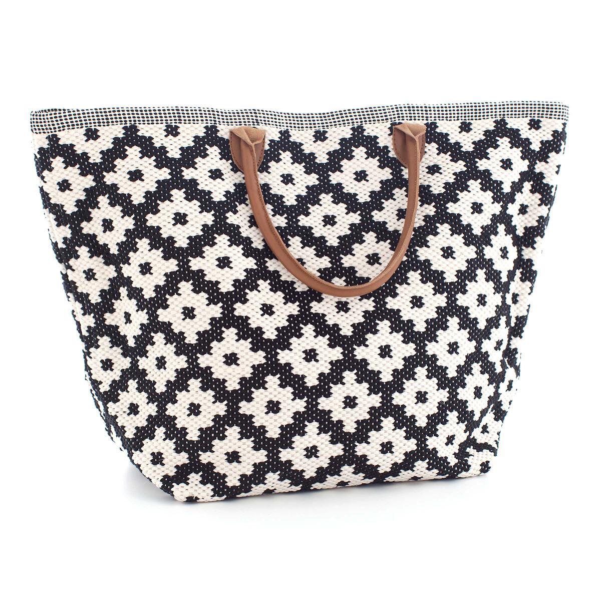 Le Tote Black/Ivory Tote Bag Grand