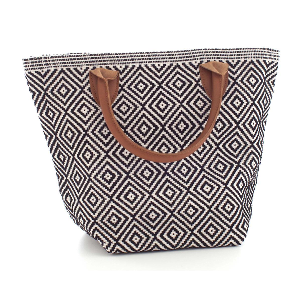 Fresh American Le Tote Black/Ivory Tote Bag Petit