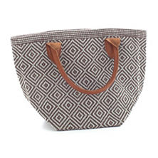 Le Tote Charcoal/Light Blue Tote Bag Petit