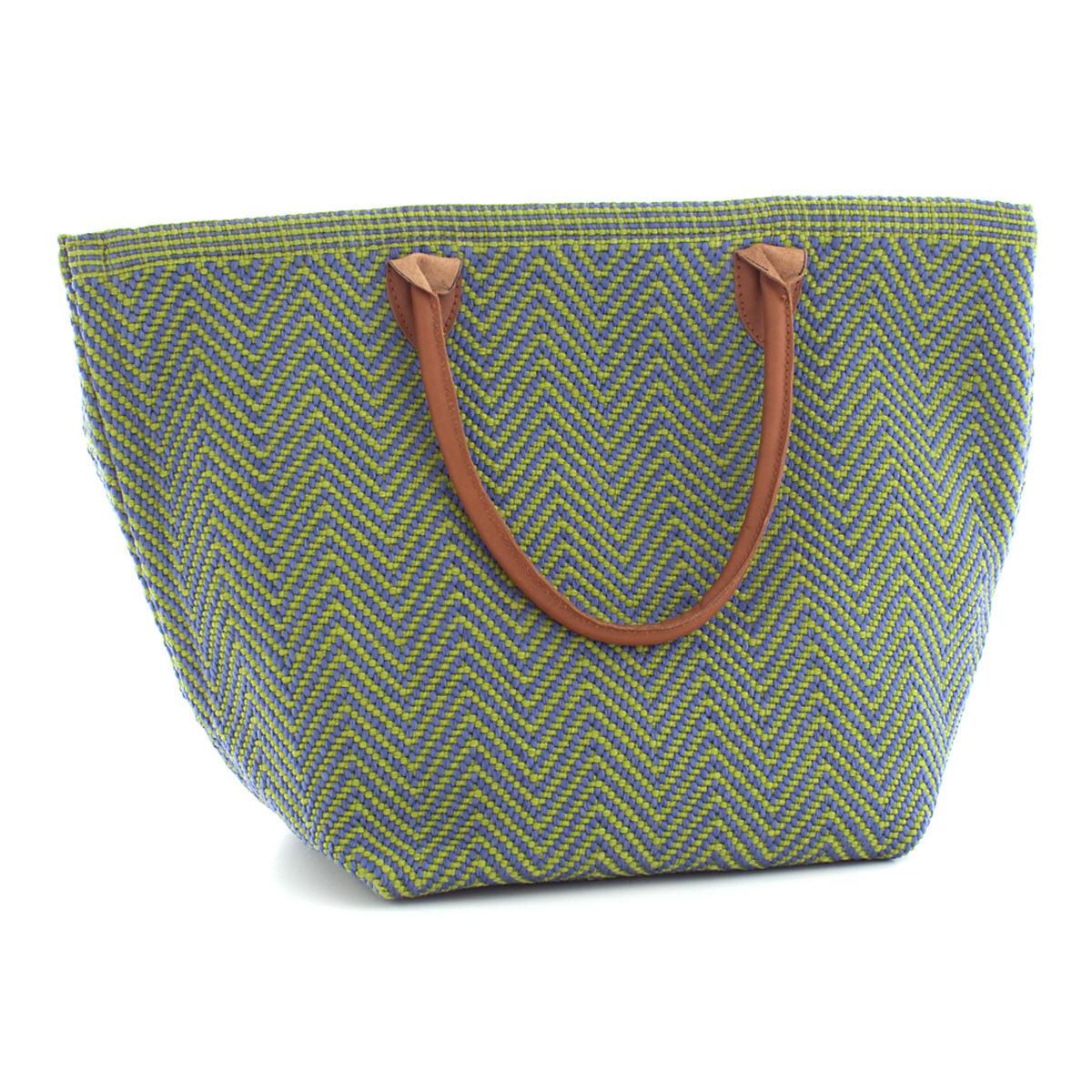 Fresh American Le Tote Denim/Sprout Tote Bag Moyen
