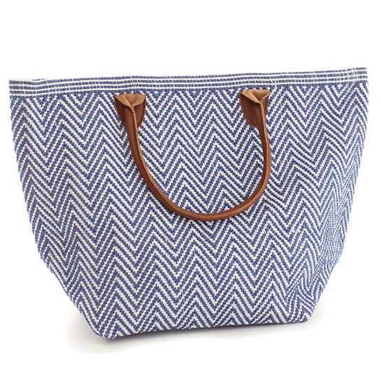Fresh American Le Tote Denim/White Tote Bag Moyen