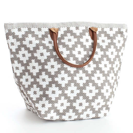Fresh American Le Tote Fieldstone/White Tote Bag Grand