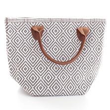 Le Tote Fieldstone/White Tote Bag Petit