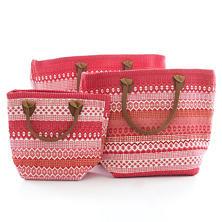 Le Tote Fiesta Stripe Fuchsia/Red Tote Bag