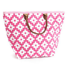 Fresh American Le Tote Fuchsia/White Tote Bag Grand