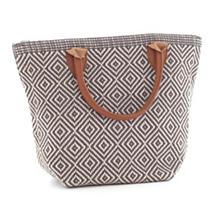 Le Tote Graphite/Platinum Tote Bag Petit